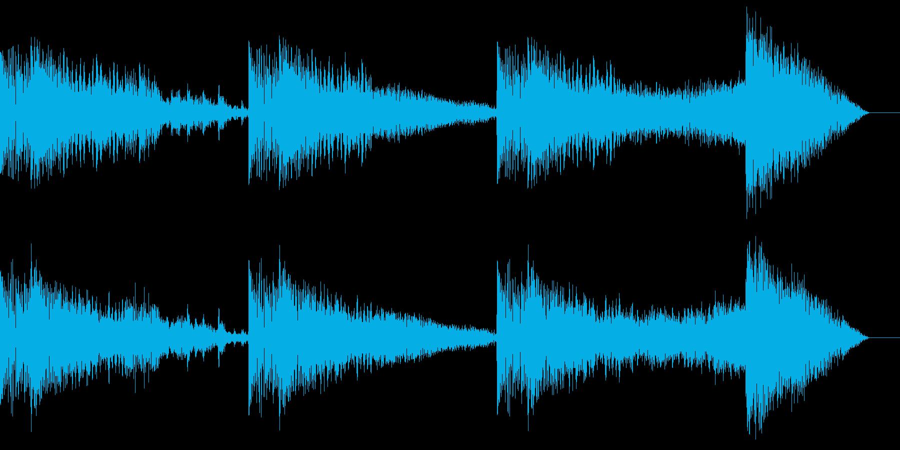 ガツガツとしたBGMの再生済みの波形