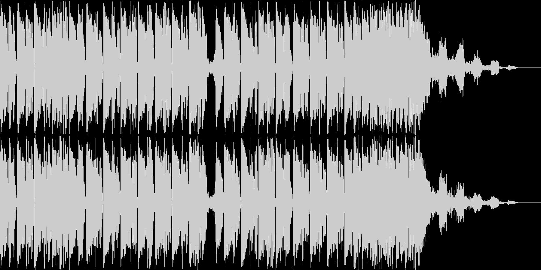 テクノポップのBGMの未再生の波形