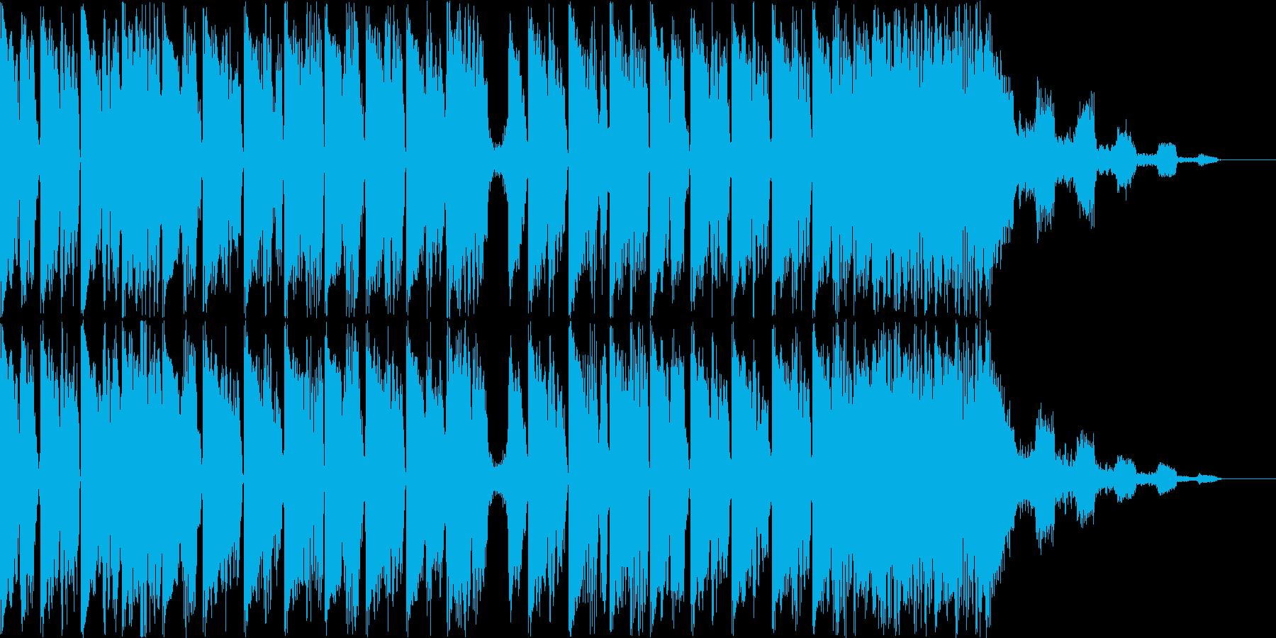 テクノポップのBGMの再生済みの波形