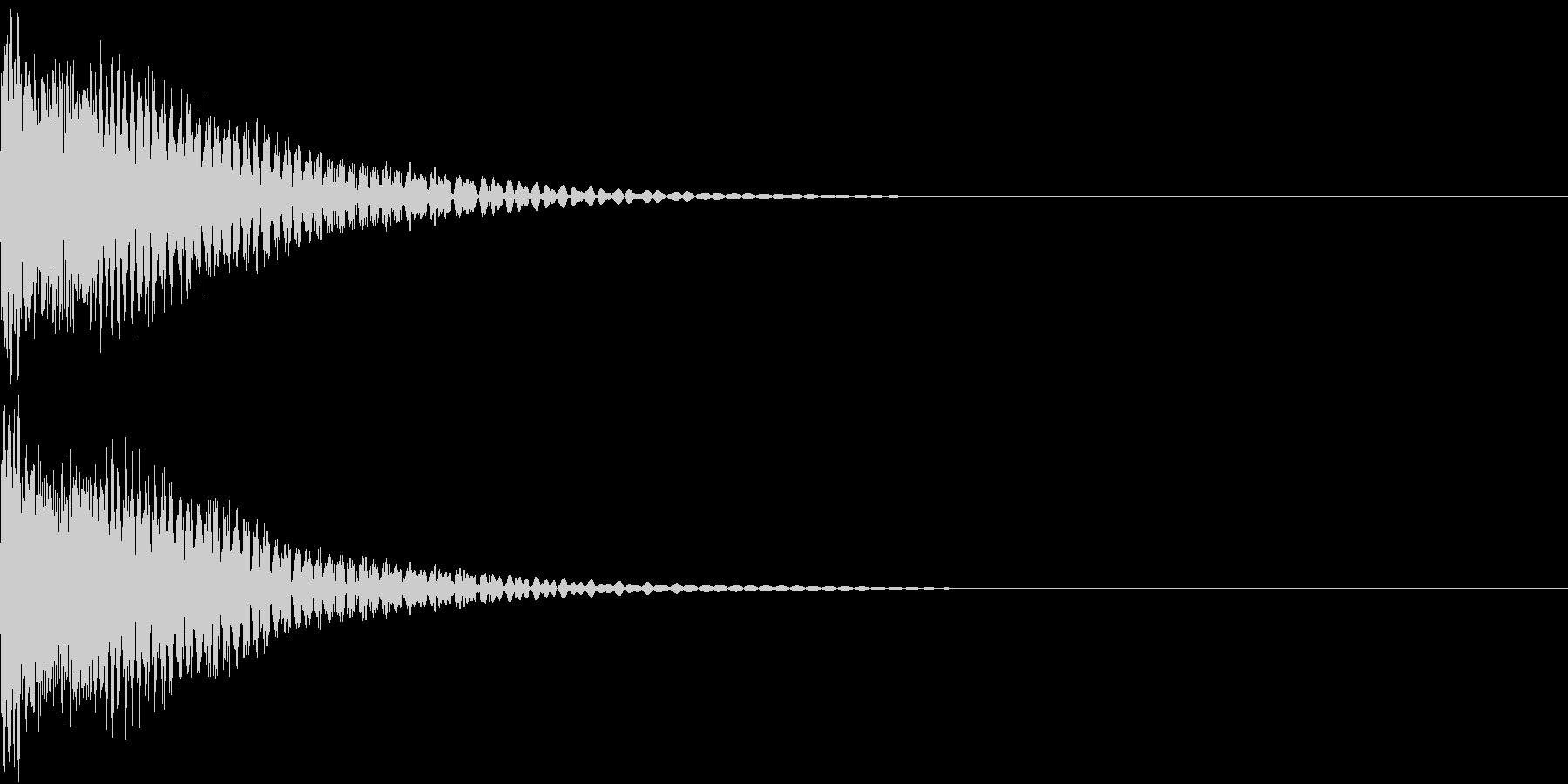 戦隊モノ ビームサーベルの重厚な斬撃音の未再生の波形
