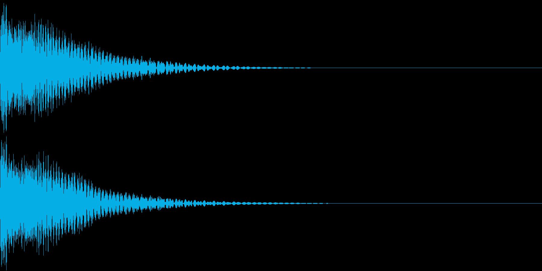 戦隊モノ ビームサーベルの重厚な斬撃音の再生済みの波形
