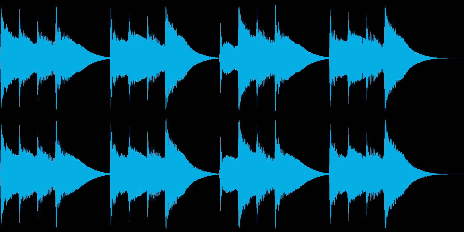 キンコンカンコン。学校チャイム(中)の再生済みの波形