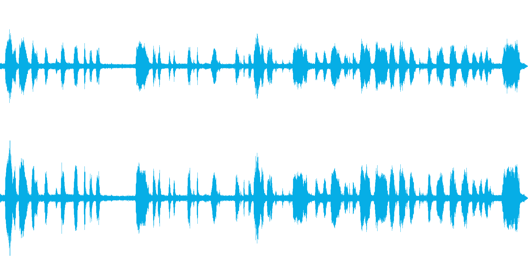 工事の音が入っている環境音の再生済みの波形