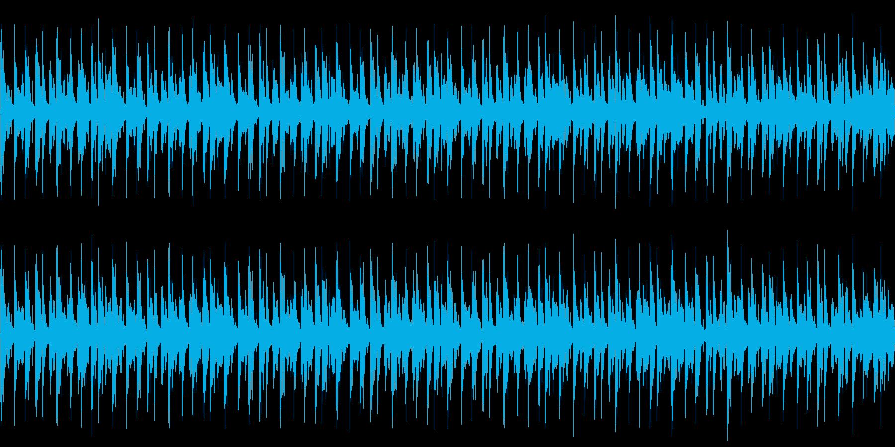BGM用ループ音源の再生済みの波形