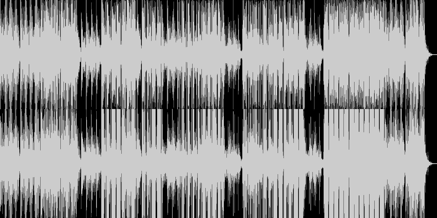 ノイズリズムと美しいメロデイのピアノの未再生の波形