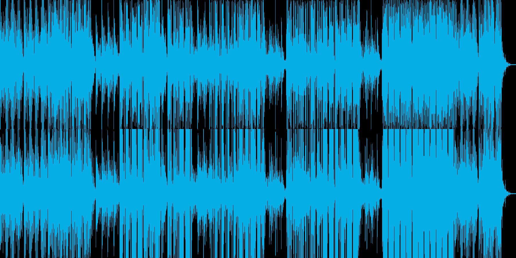 ノイズリズムと美しいメロデイのピアノの再生済みの波形
