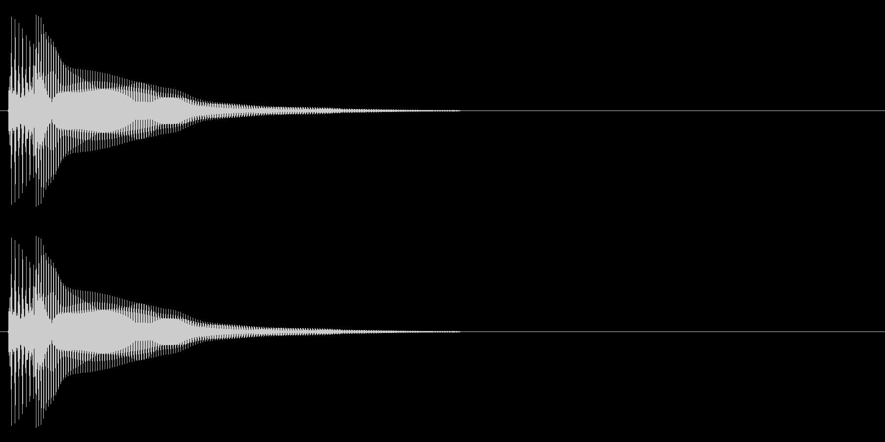 ピポーン(低め)の未再生の波形