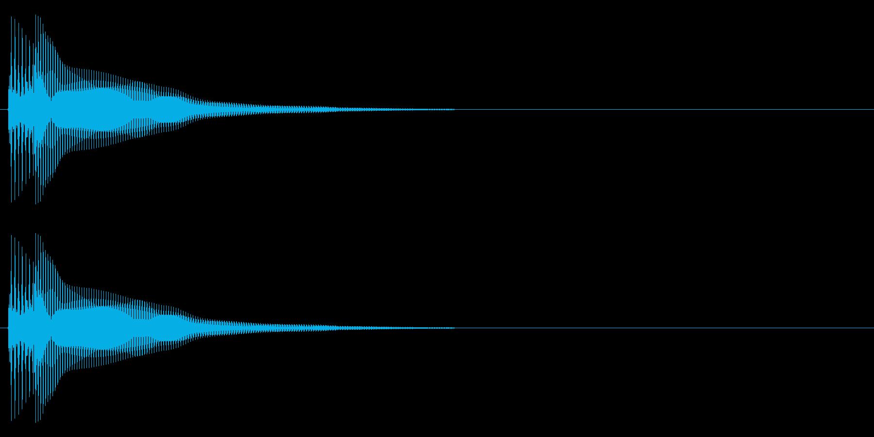 ピポーン(低め)の再生済みの波形