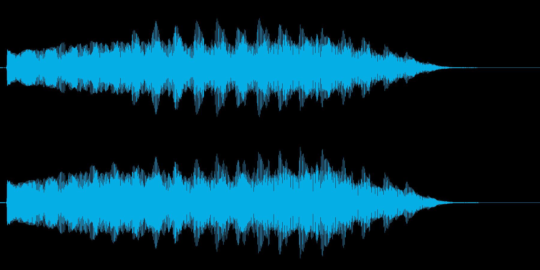 重低音 オルガン トレモロ音 ブンブンの再生済みの波形