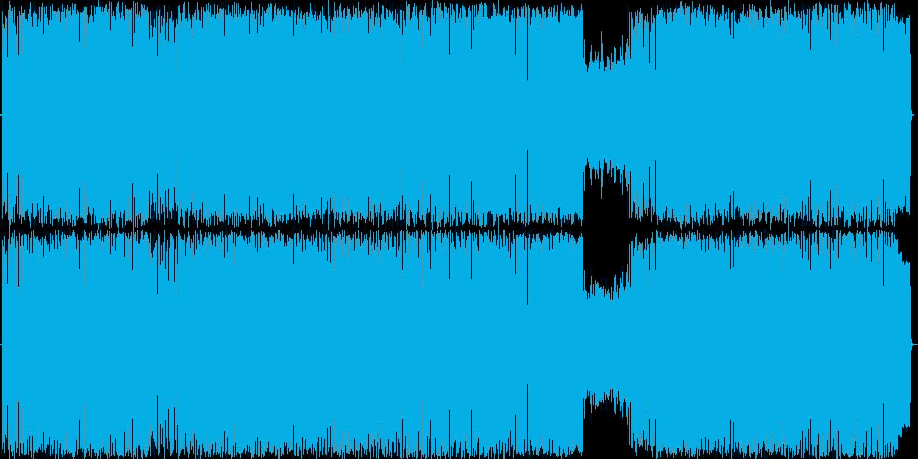 可愛い楽しいウキウキテクノポップの再生済みの波形