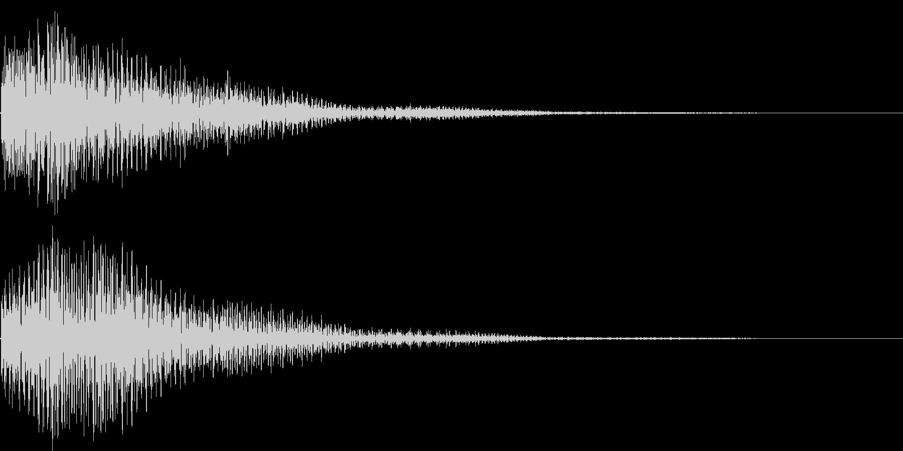 ゴゴーン(鐘、キャンセル、ショック)の未再生の波形