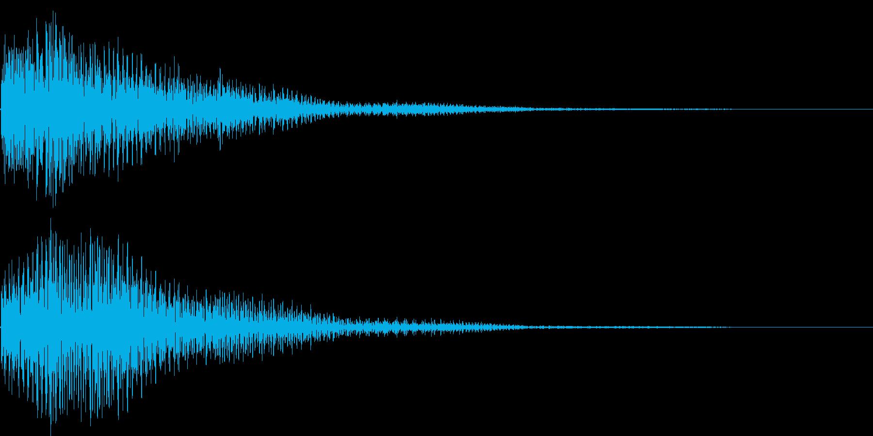 ゴゴーン(鐘、キャンセル、ショック)の再生済みの波形