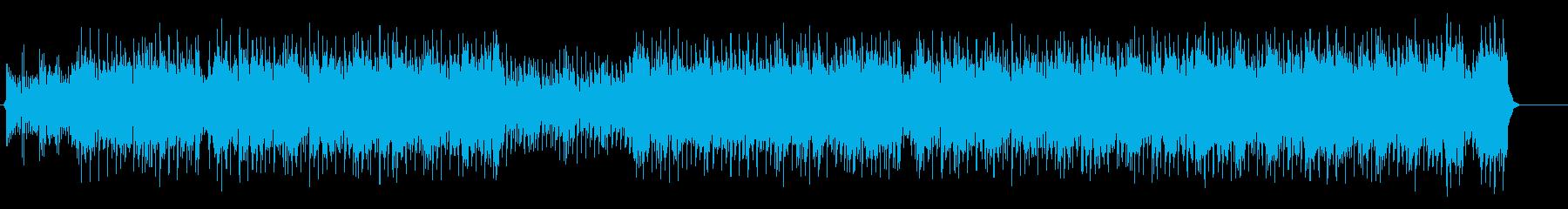 テンポの良いダンサブルなマイナーポップスの再生済みの波形