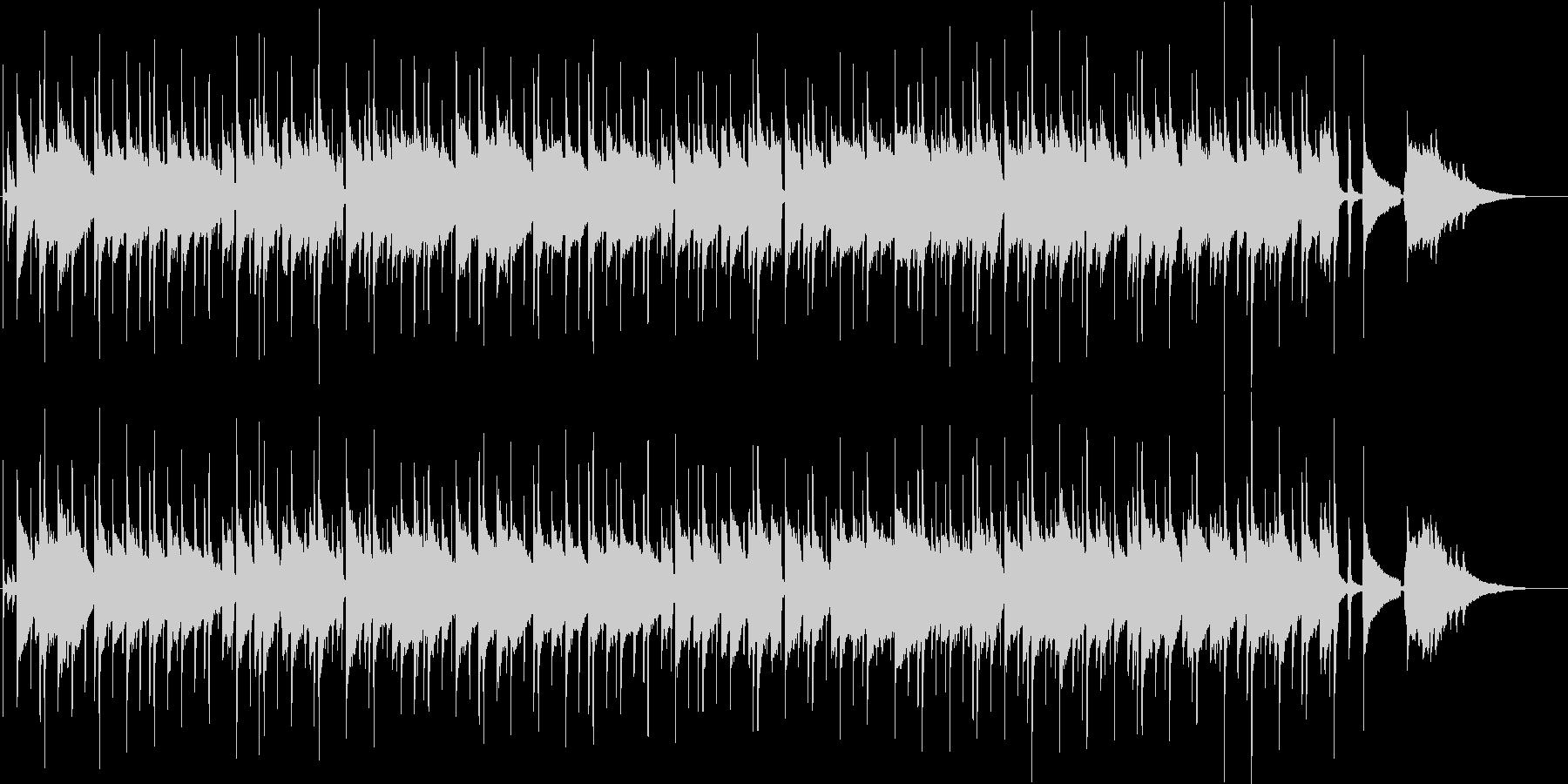 穏やかでさわやかなゆったりとしたBGMの未再生の波形