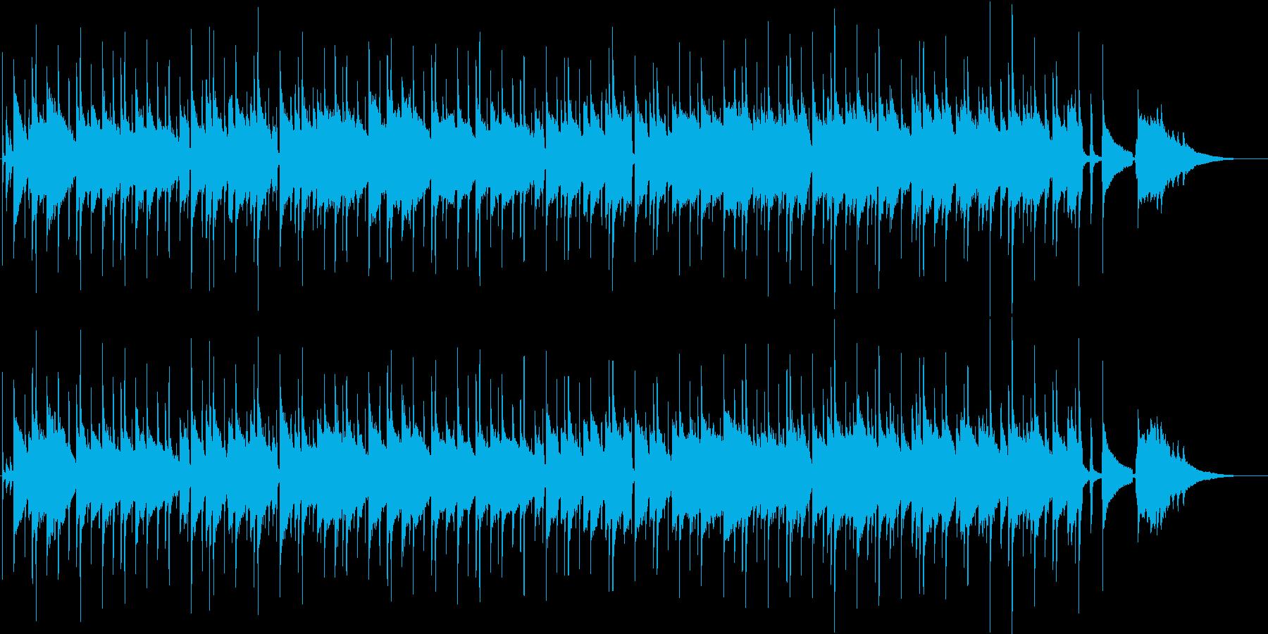 穏やかでさわやかなゆったりとしたBGMの再生済みの波形
