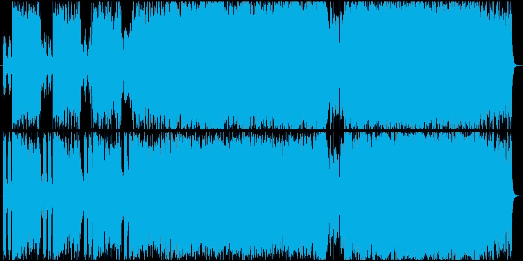 ポストロック風短めインストの再生済みの波形