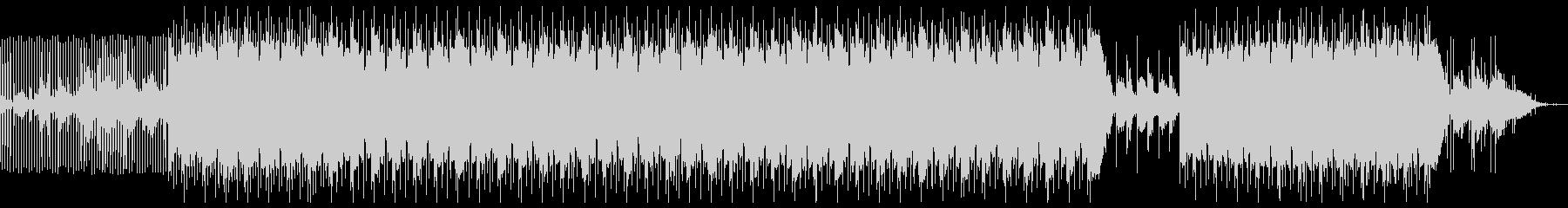 暗いシンプルなトラップ系楽曲の未再生の波形