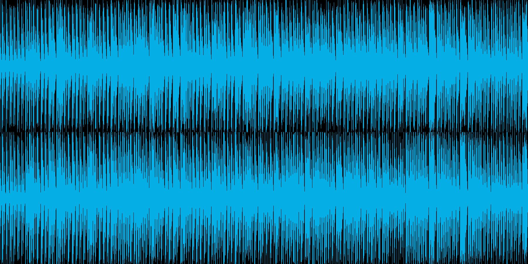 日常会話で流れそうなポップスの再生済みの波形