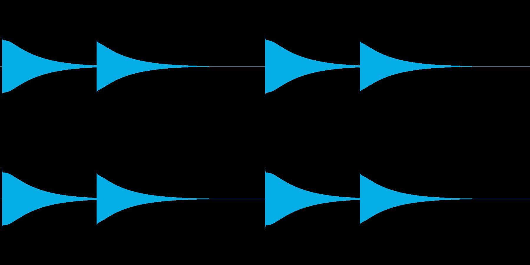 【改札 誘導音01-1L】の再生済みの波形