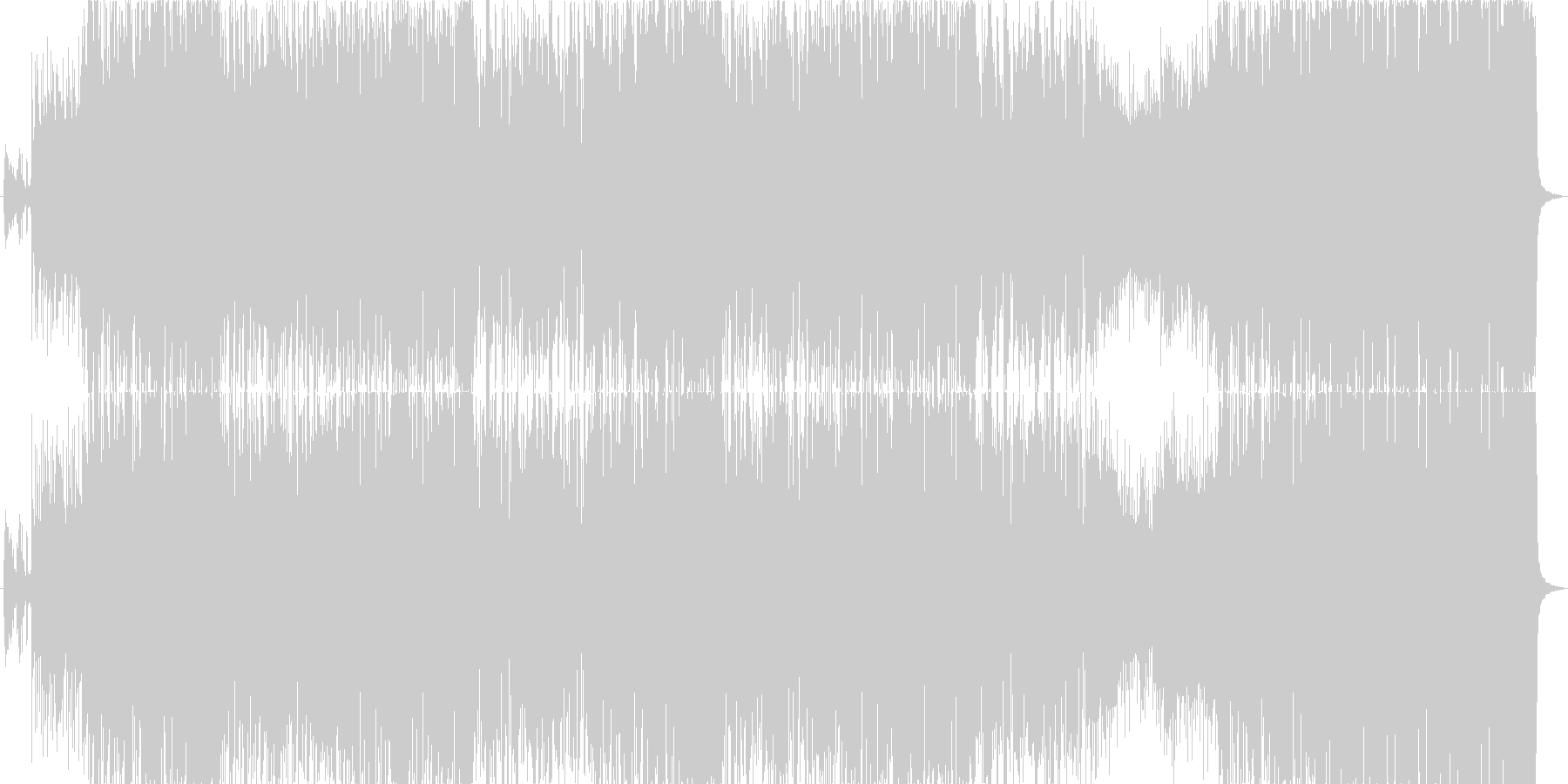 異国情緒のエスニックポップの未再生の波形