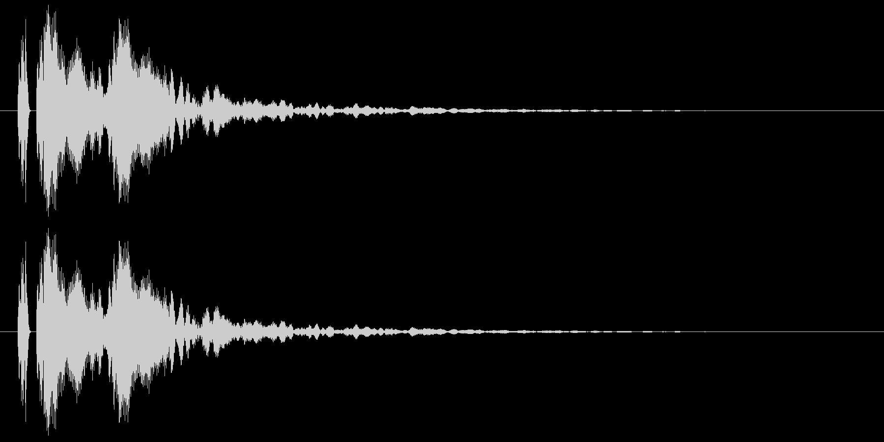 【ポポン!】とてもリアルな太鼓の鼓!08の未再生の波形