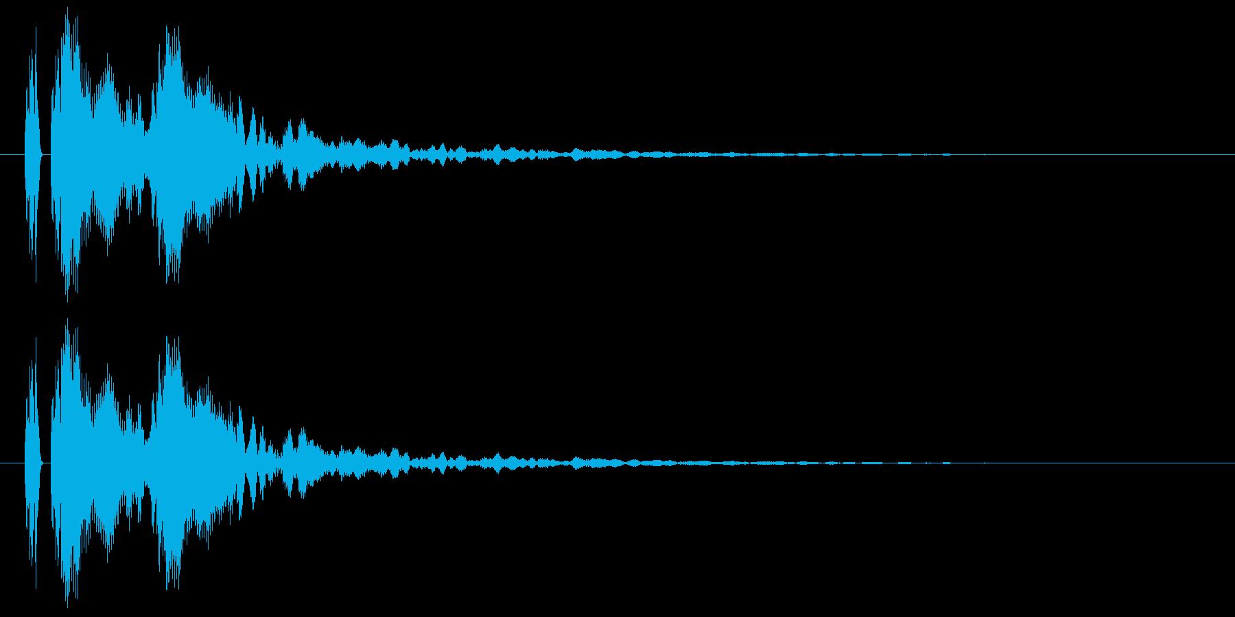 【ポポン!】とてもリアルな太鼓の鼓!08の再生済みの波形
