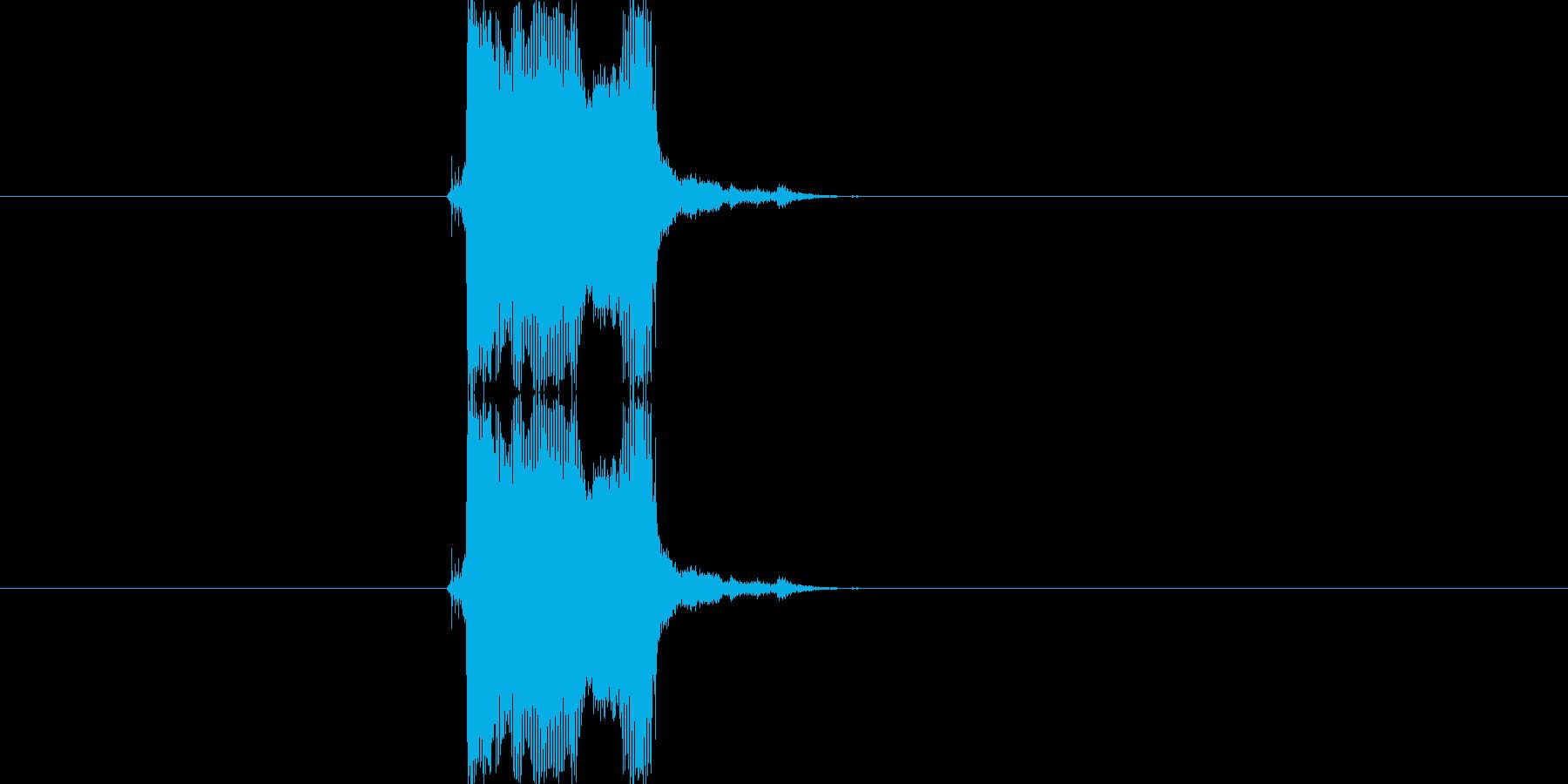 【生音】【ビーー!】原付のクラクションの再生済みの波形