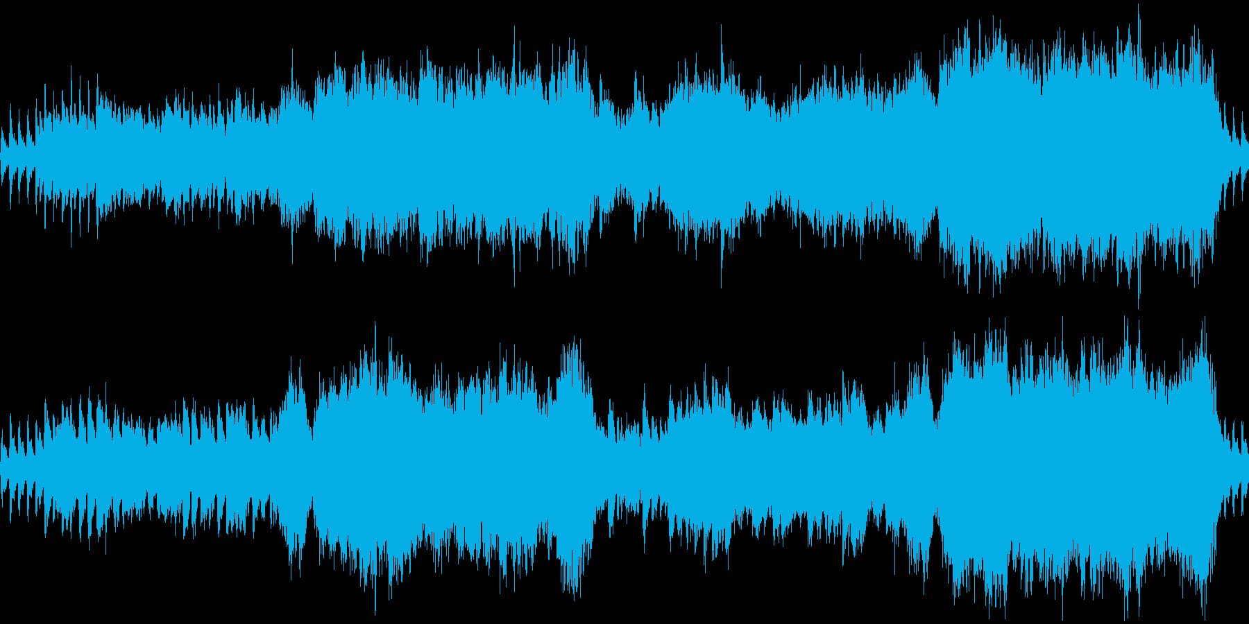 ストリングスとハープ、厳正な雰囲気の再生済みの波形