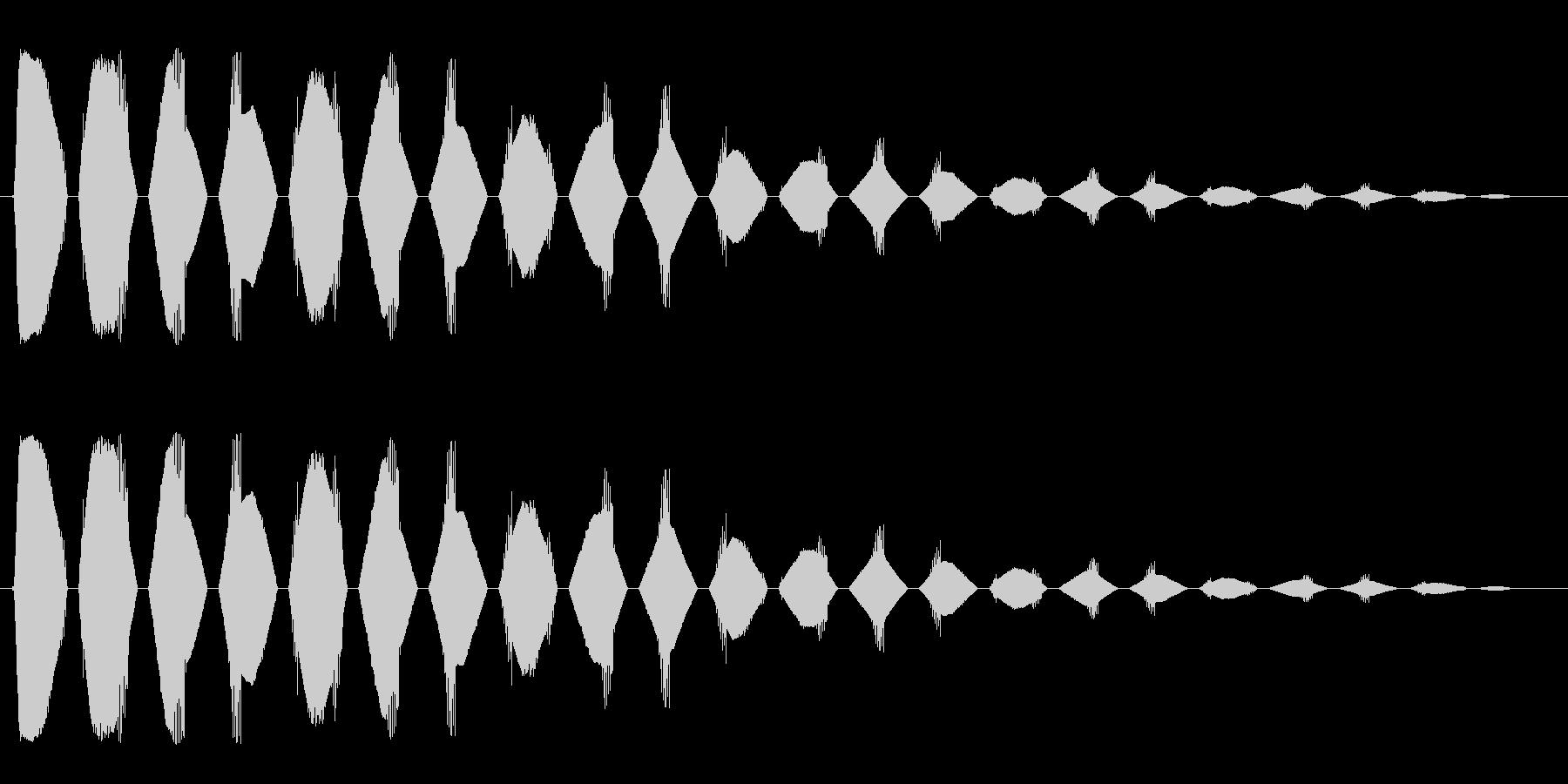 ヒラヒラヒラ(短い金属音の凝り返しの音)の未再生の波形