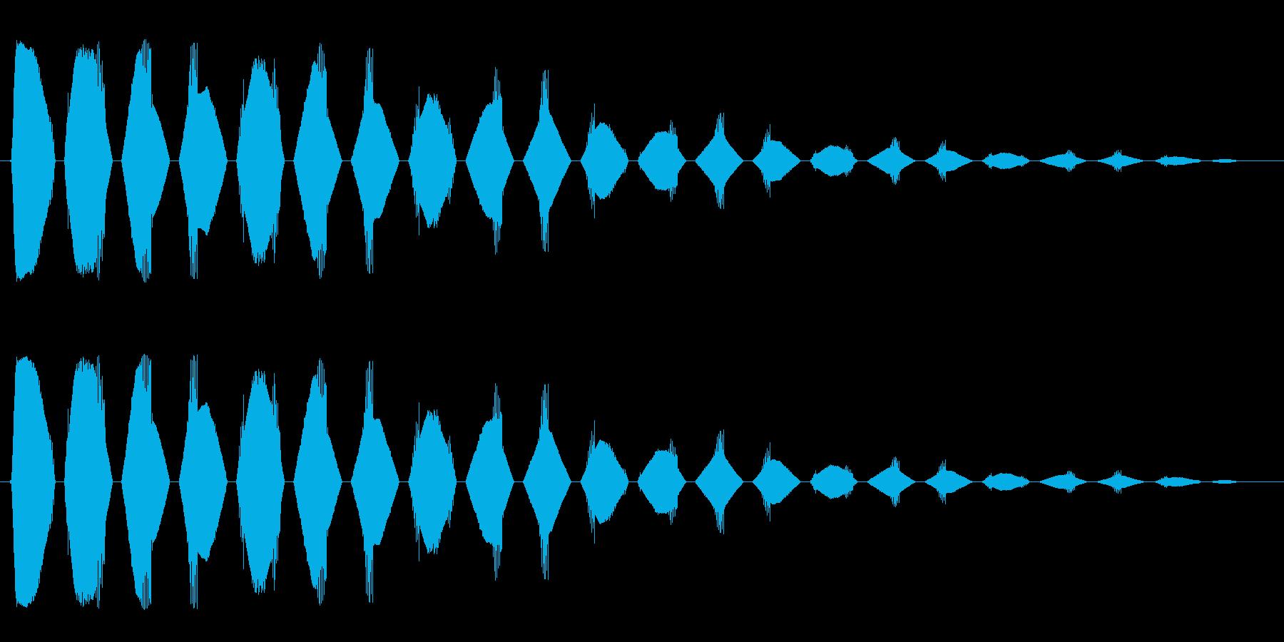 ヒラヒラヒラ(短い金属音の凝り返しの音)の再生済みの波形
