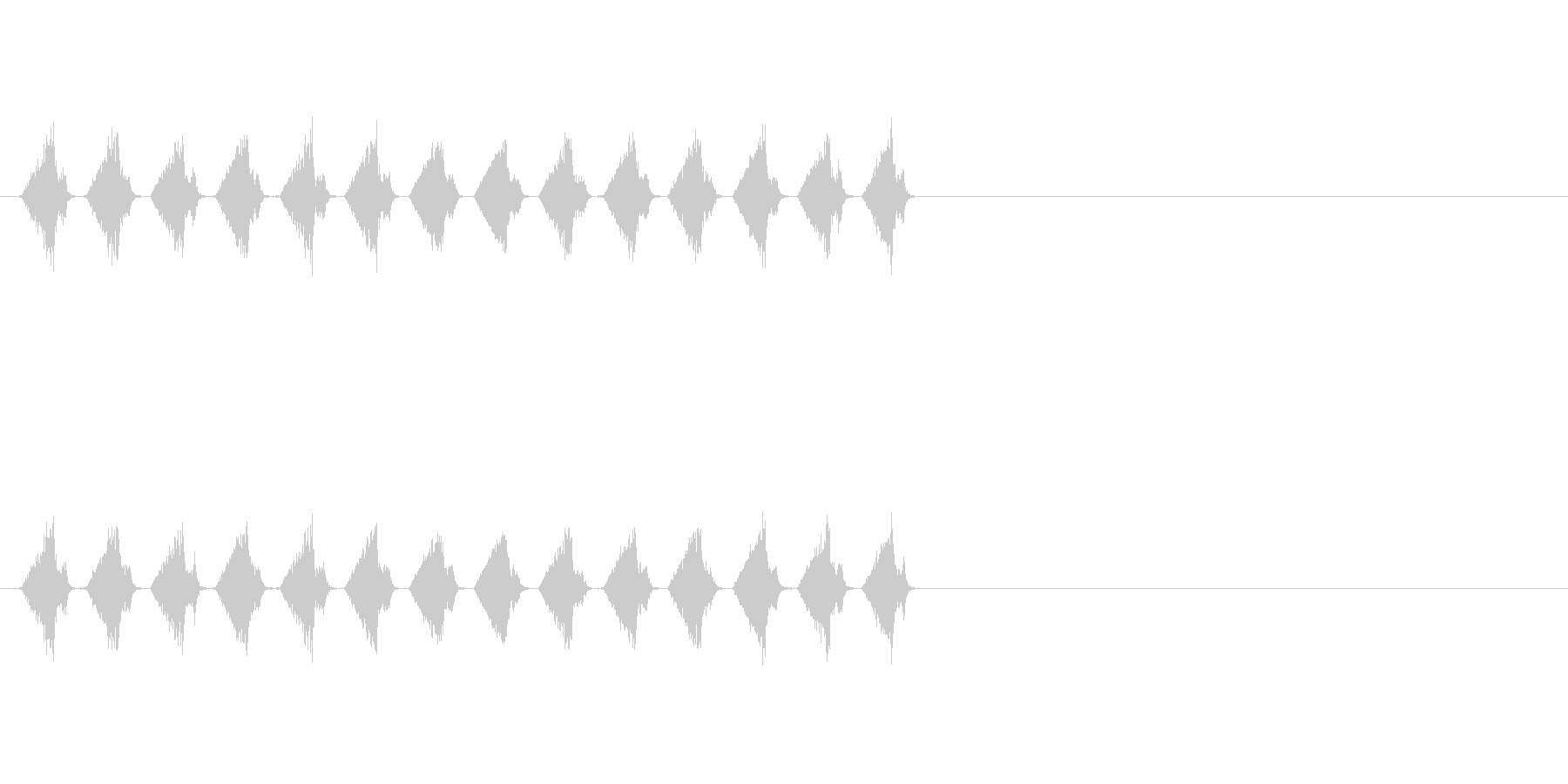 シャシャシャ…(カードを切る音、配る音)の未再生の波形
