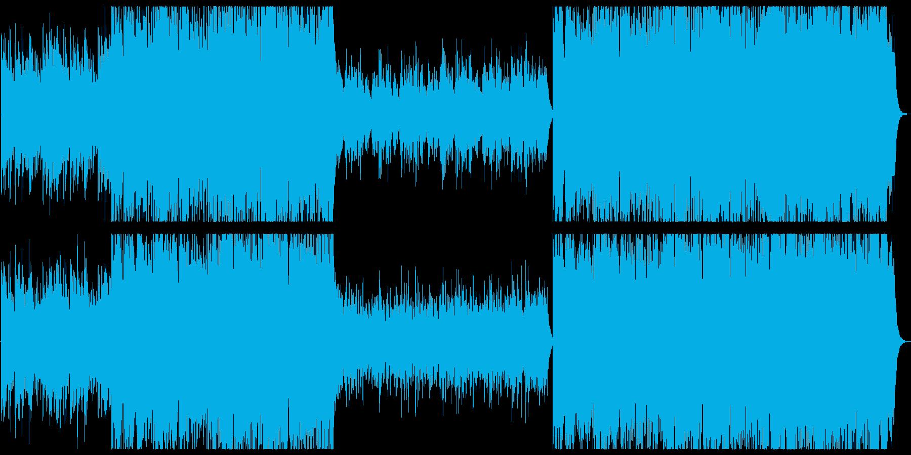 [和風]笛とオーケストラ勇敢な打楽器の再生済みの波形