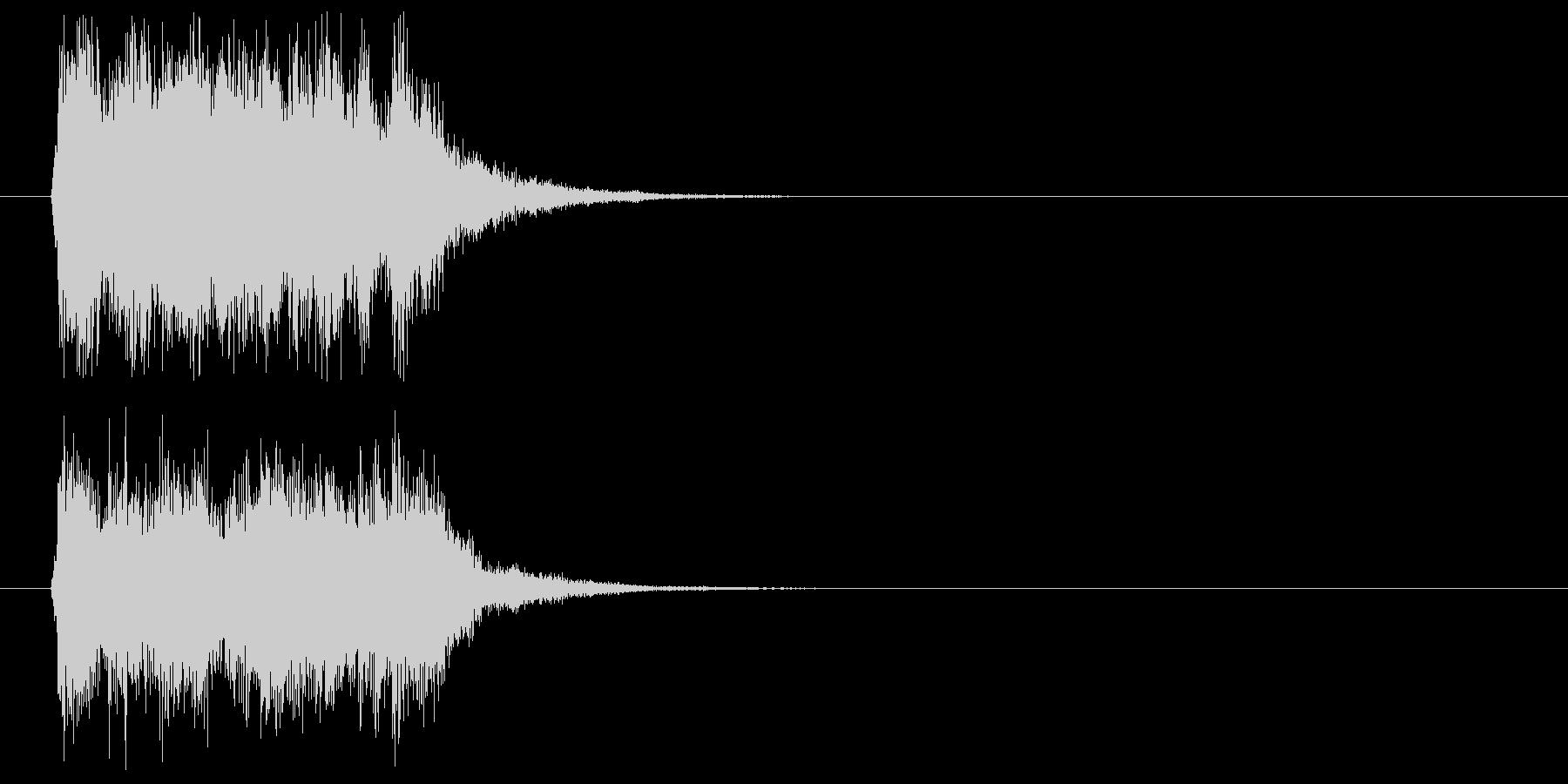 軽快でスピード感あるポップジングルの未再生の波形