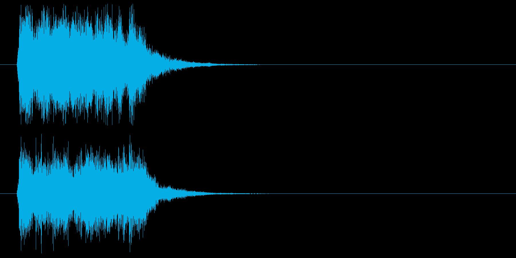 軽快でスピード感あるポップジングルの再生済みの波形