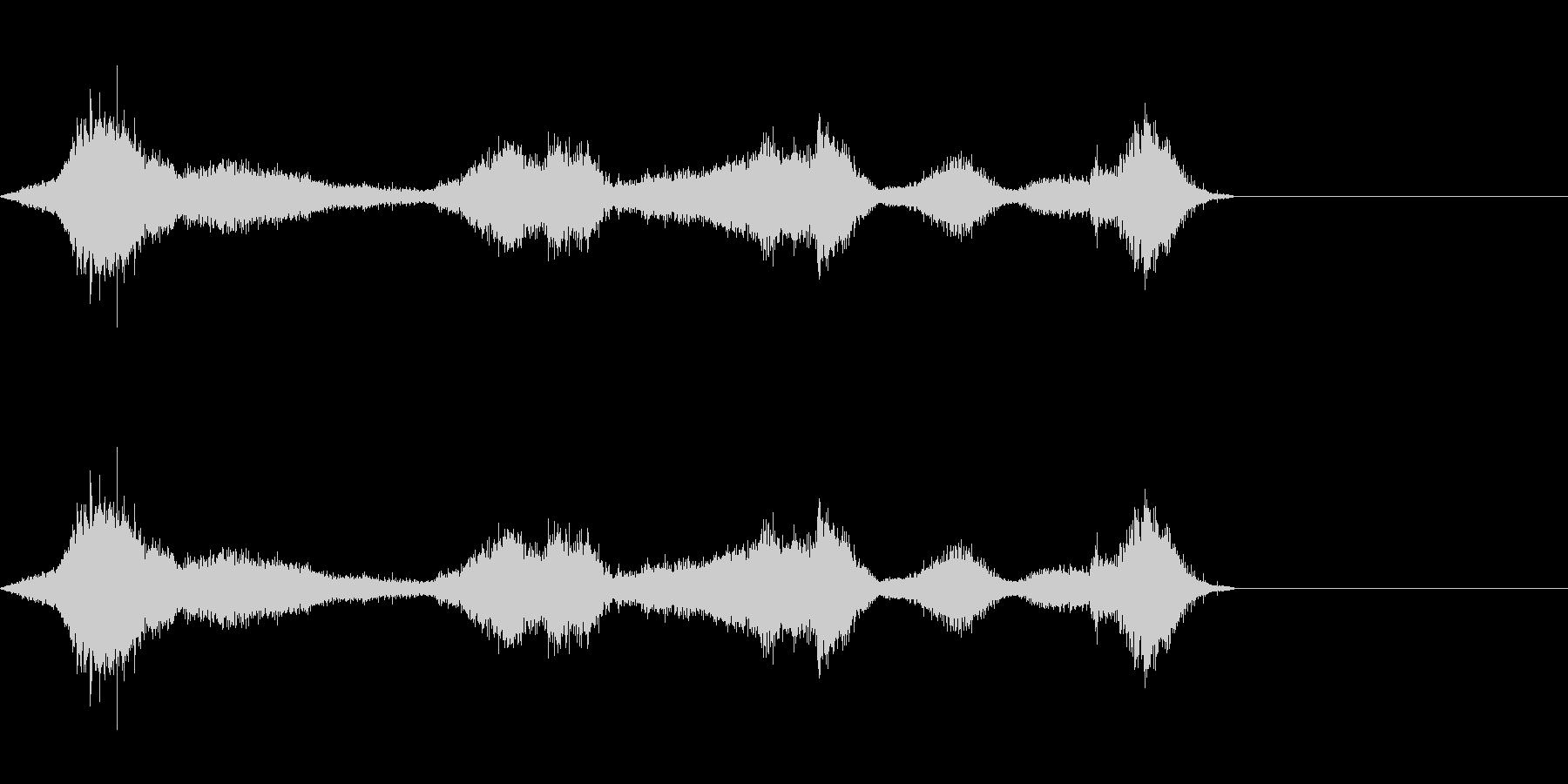 シルク・ナイロン・擦れるの未再生の波形
