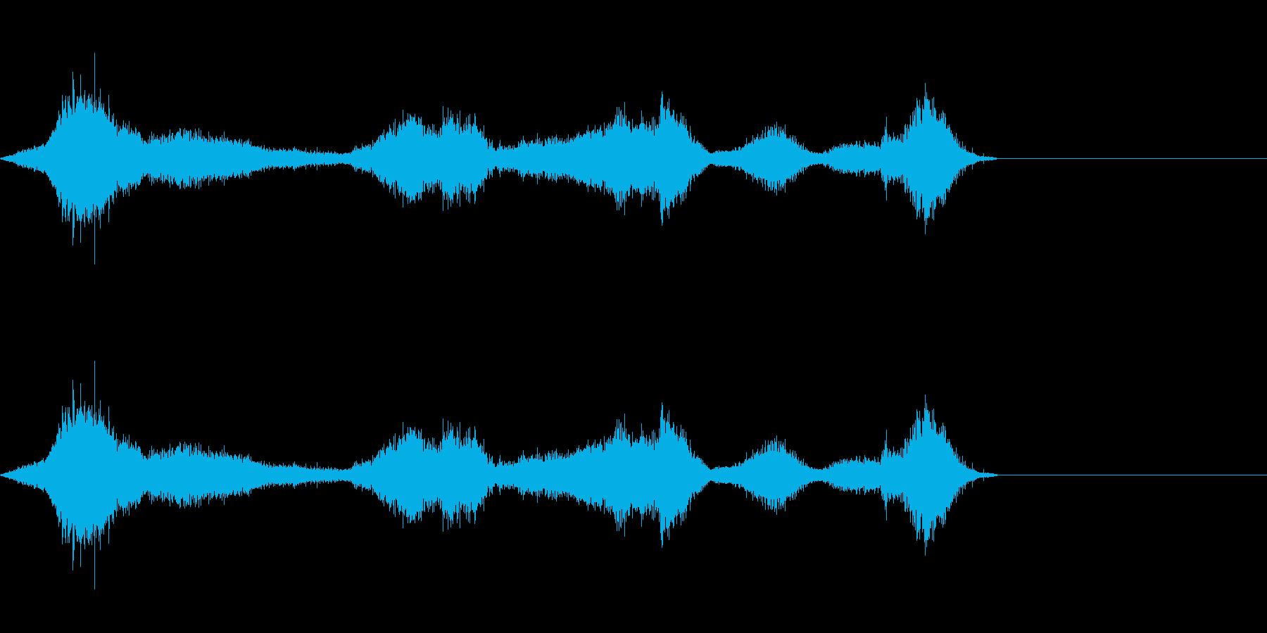 シルク・ナイロン・擦れるの再生済みの波形
