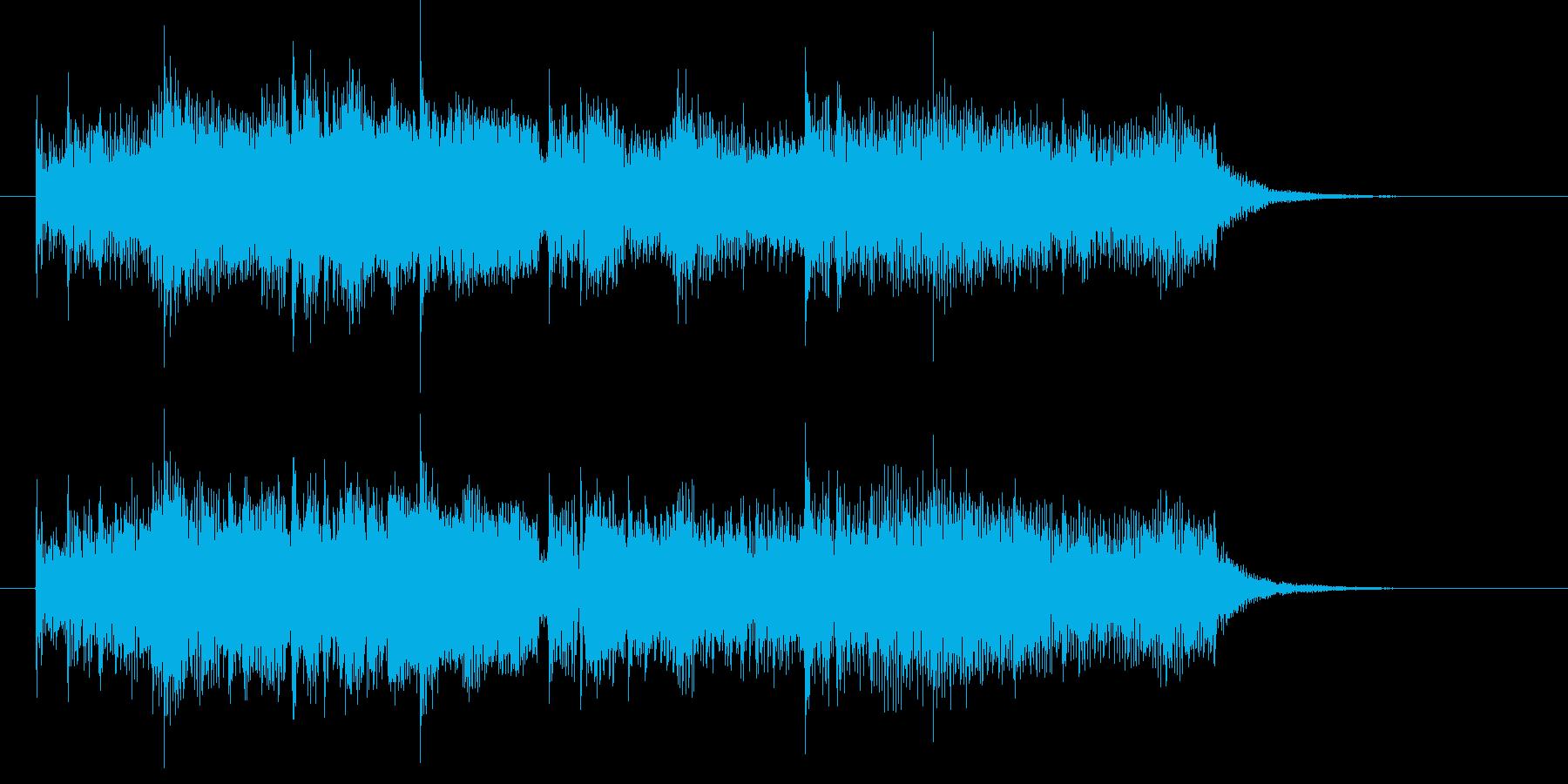 神秘的でなだらかなシンセジングルの再生済みの波形