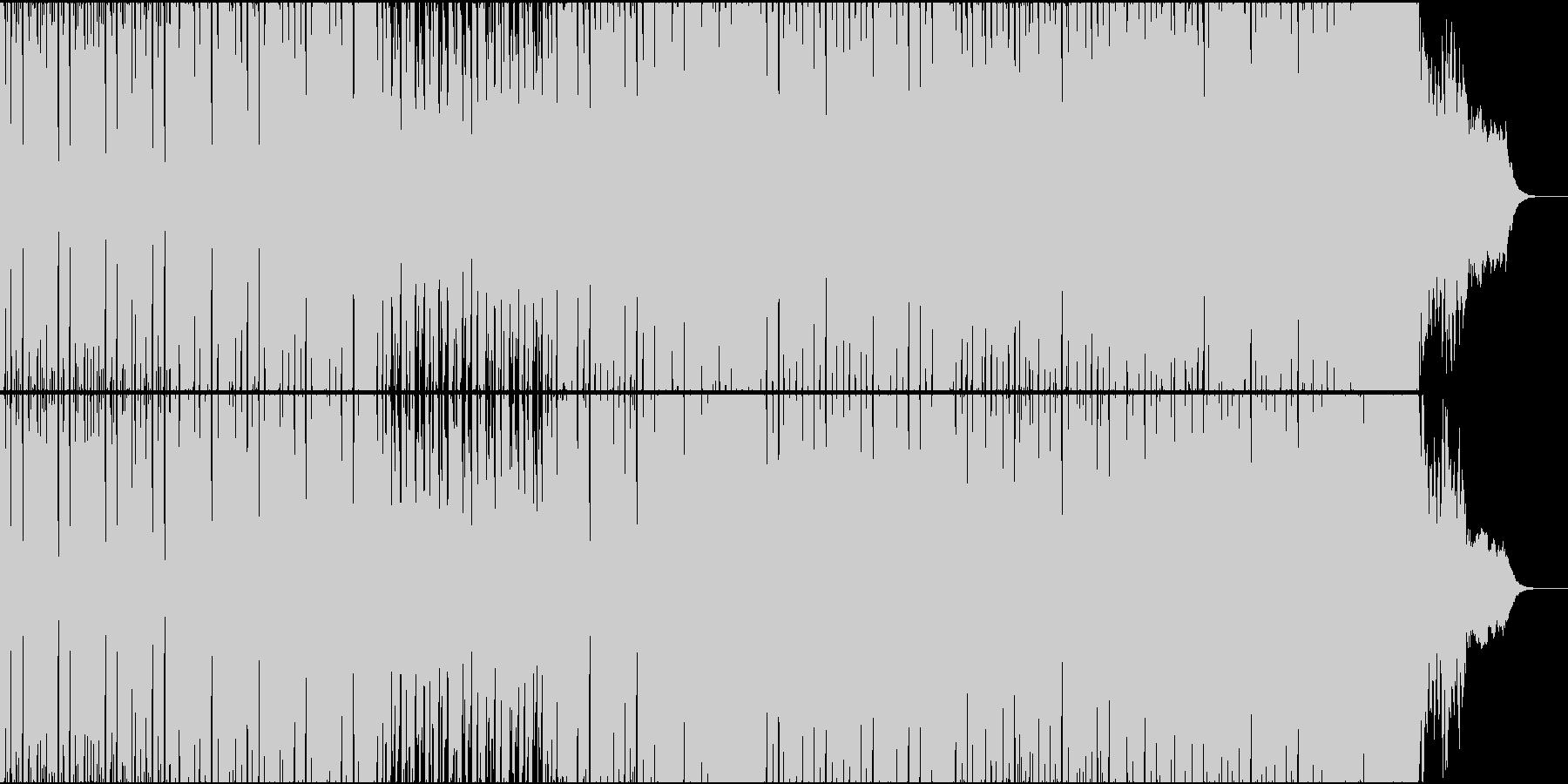 緊迫感のあるサイバー+オーケストラの曲の未再生の波形