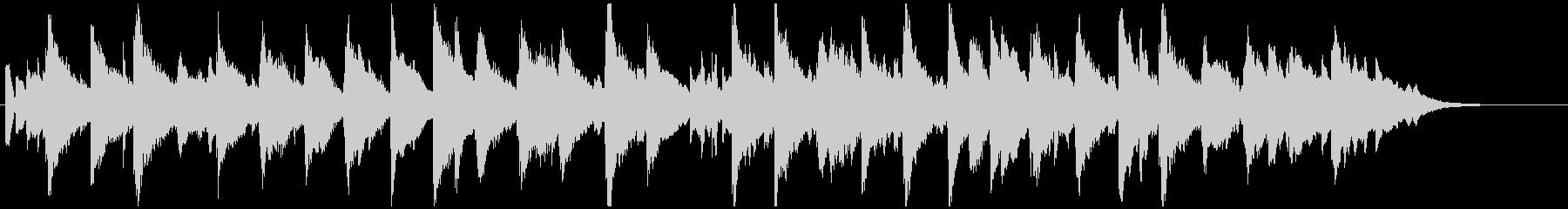 シンセによるシンプルなBGMの未再生の波形