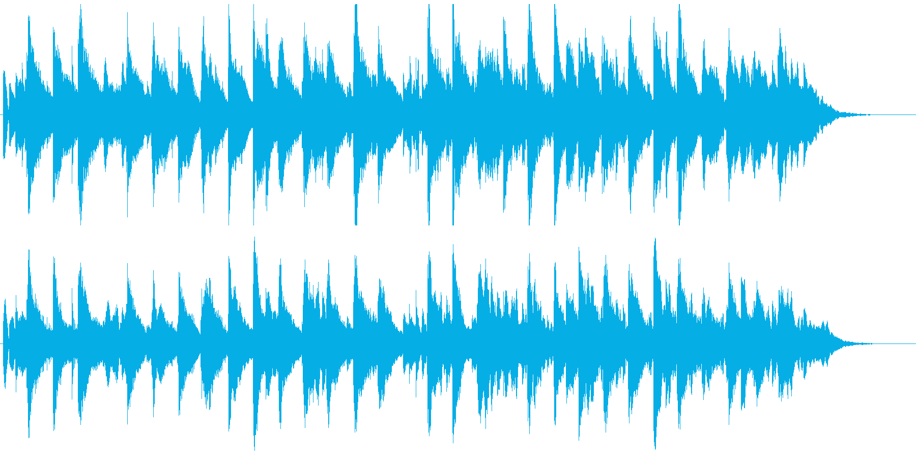 シンセによるシンプルなBGMの再生済みの波形