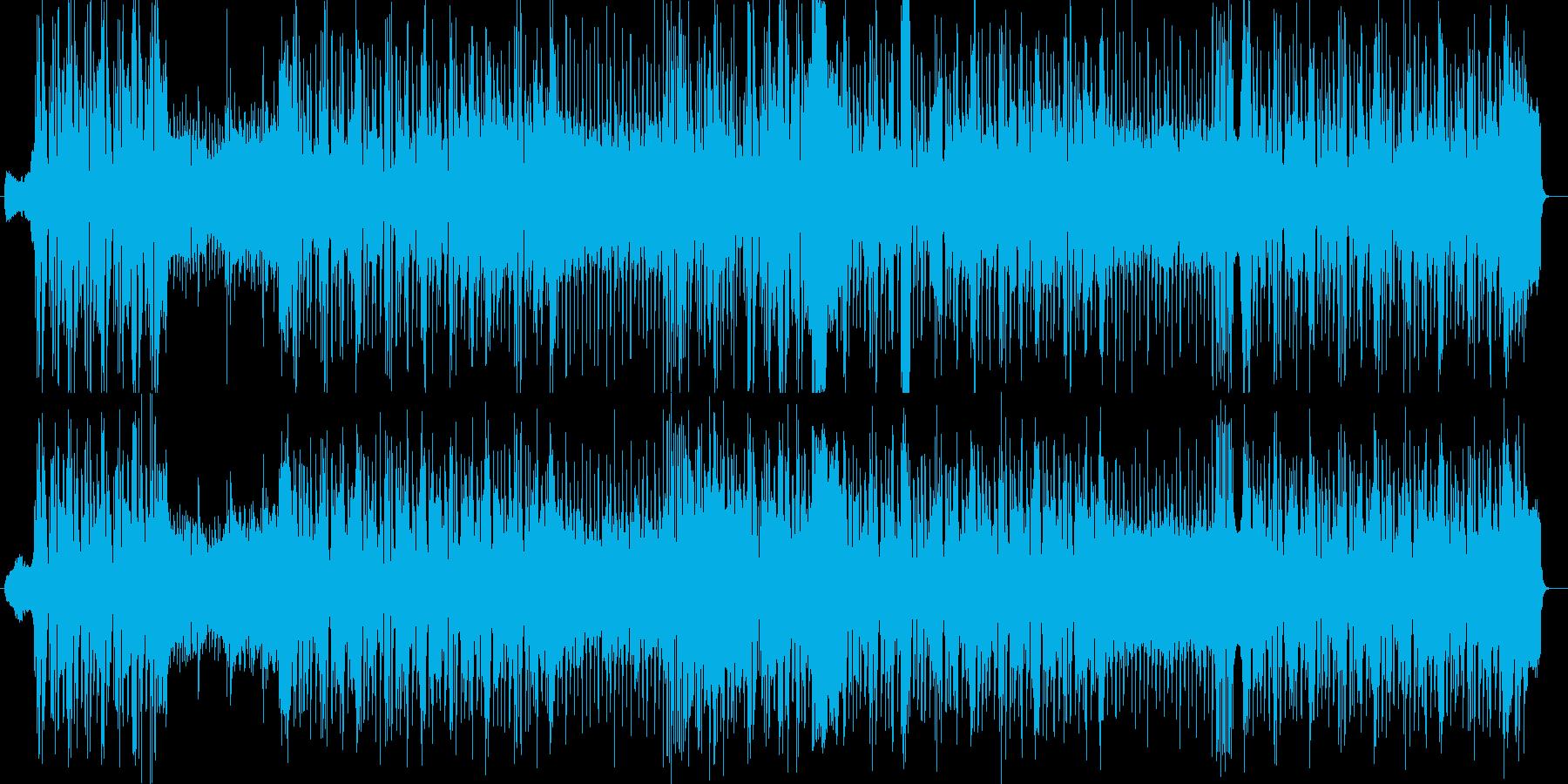 勢いのあるシンセ・ギターなどのサウンドの再生済みの波形