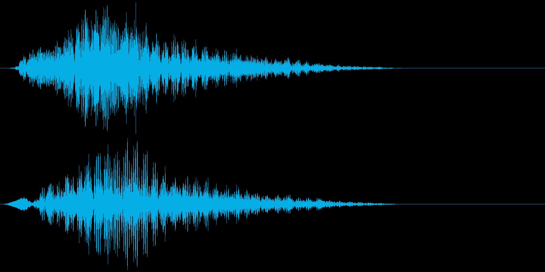 不協和音ハウリング【ホラー】ヒュイォォンの再生済みの波形