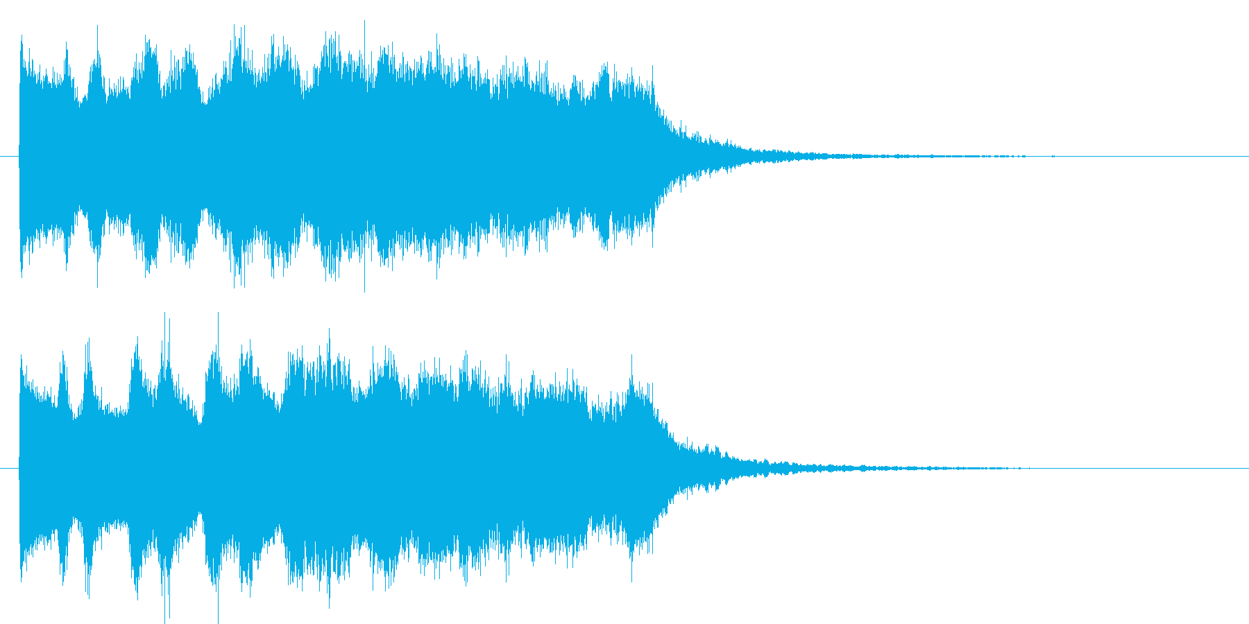 ピュゥゥゥゥゥ(魔法音)の再生済みの波形