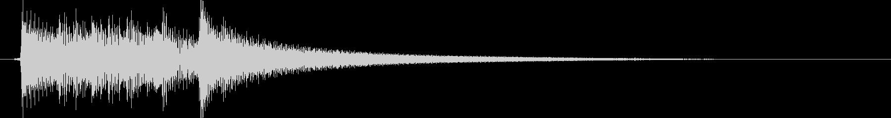 切ない雰囲気のアコギのジングル2の未再生の波形
