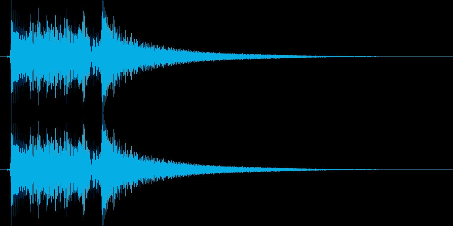 切ない雰囲気のアコギのジングル2の再生済みの波形