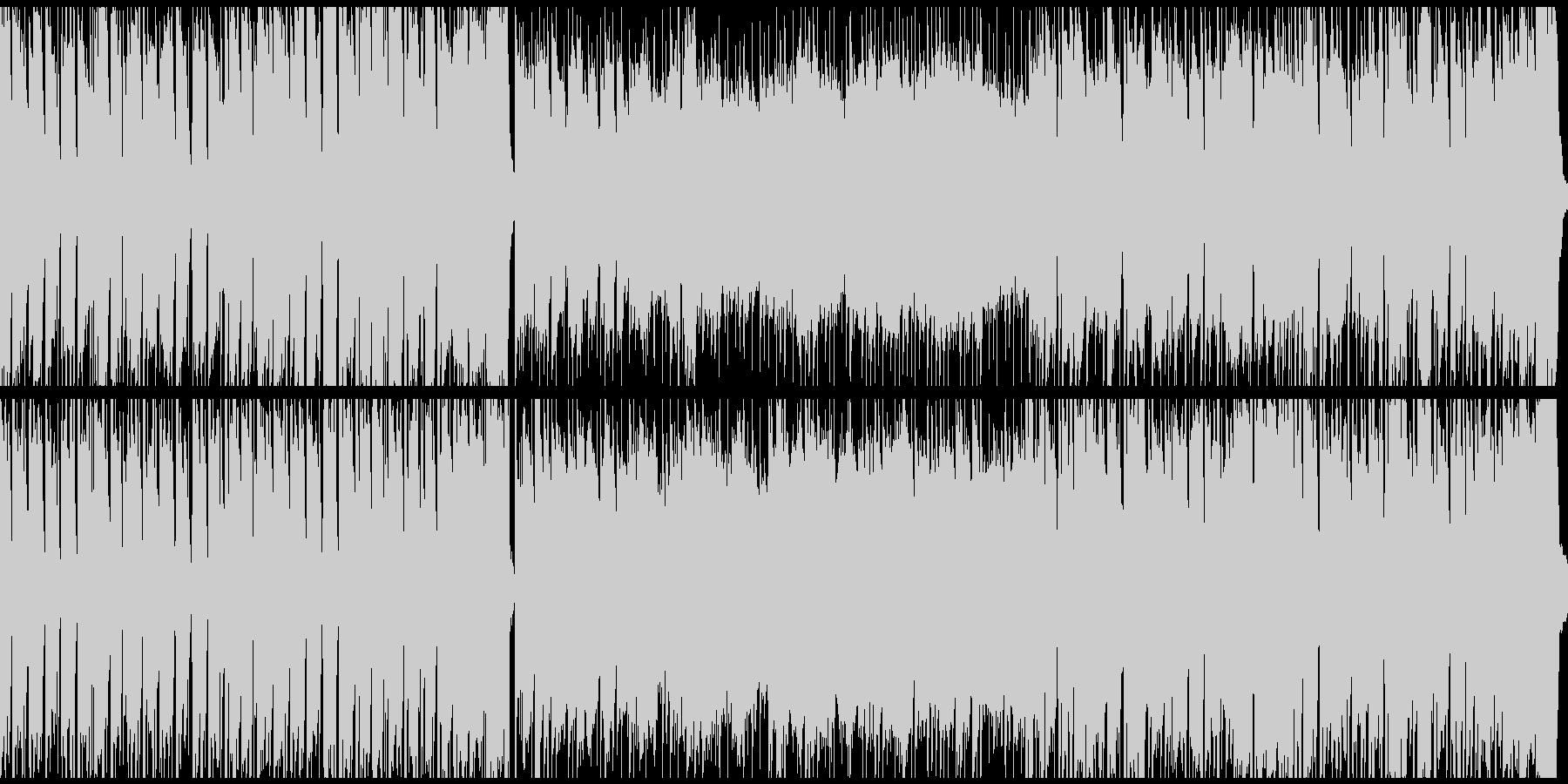 リコーダーを用いた楽しい雰囲気のBGMの未再生の波形