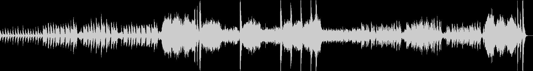 ホラーテイストのオーケストラの未再生の波形