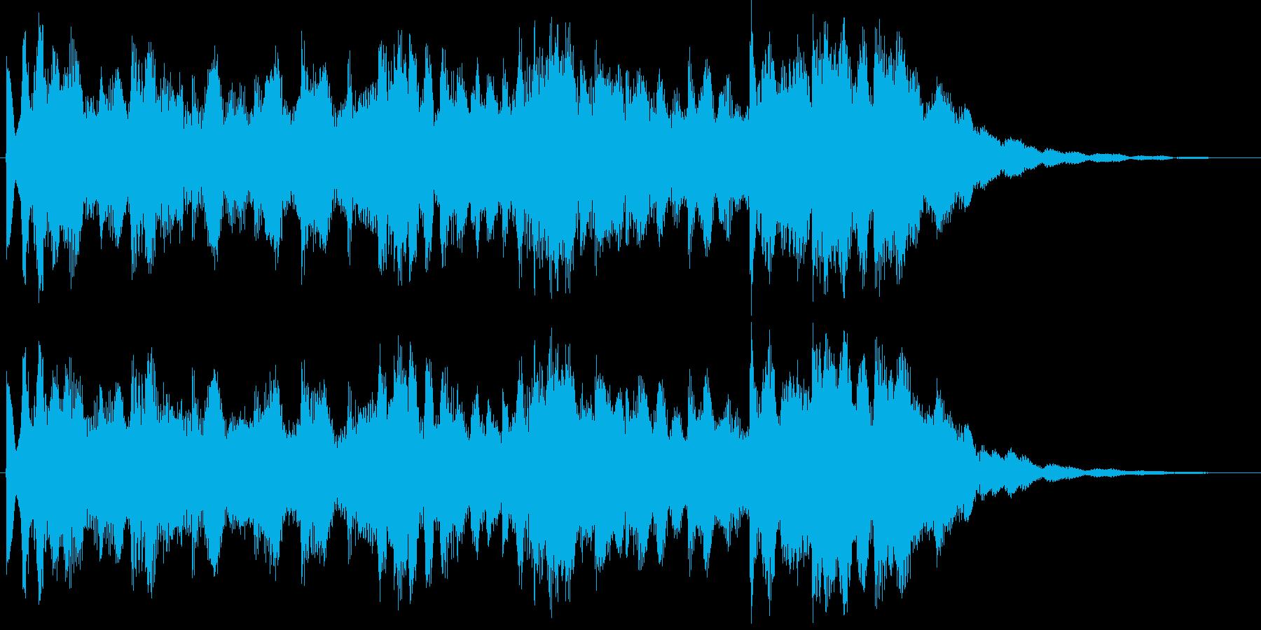 リズムカルなメロディジングルの再生済みの波形