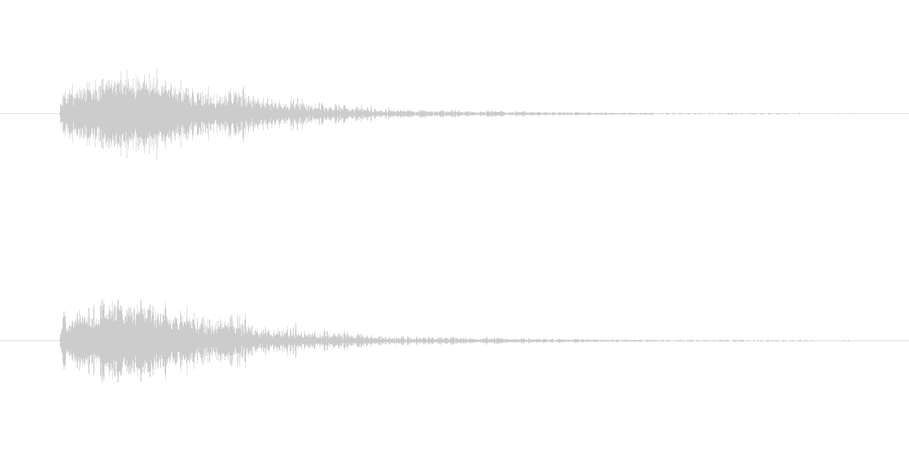 シューティング発射の未再生の波形