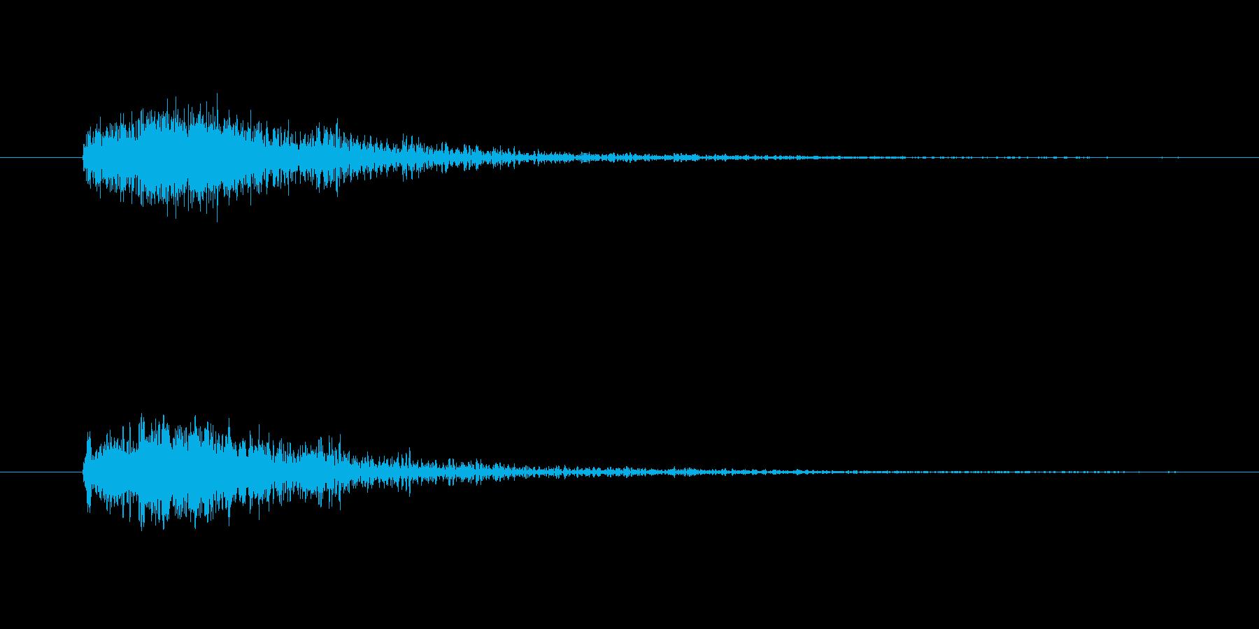 シューティング発射の再生済みの波形